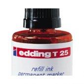 Edding T25 Kırmızı Permanent Mürekkep 25ml