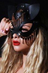 Yeniyıl Özel Fantazi Deri Maske Oriental (Gizli Pkt)