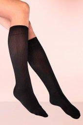 Yeniyıl Özel Fitilli Diz Altı Siyah Çorap (Gizli Pkt)