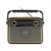 Meier M 180bt Şarjlı Nostaljik Bluetooth Hoparlör Fm Radyo Usb Sd Mp3