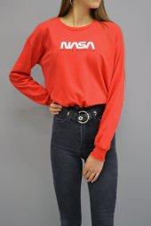 Nasa Bel Büzgülü Sweatshirt