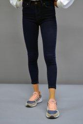 Yüksek Bel Skinny Lacivert Pantolon