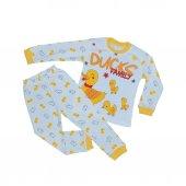Kız Erkek Bebek 4 6 Yaş Ördekli Pijama Takımı