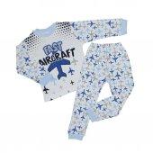 Erkek Bebek 4 6 Yaş Modelli Pijama Takımı