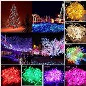 Yılbaşı Çam Ağacı Süsü Aydınlatma Işığı Şerit Led Dekor Lambası