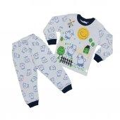 Kız-Erkek Bebek Koyun Modelli Pijama Takımı-2