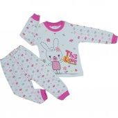 Kız Bebek Tavşan Modelli 1 3 Yaş Pijama Takımı
