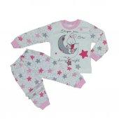 Kız Bebek Yıldız Modelli Pijama Takımı 1 3 Yaş
