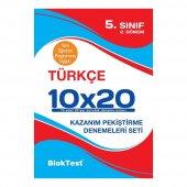 5.sınıf 2.dönem Türkçe 10x20 Kazanım Pekiştirme Denemeleri Seti Blok Test Yayınları