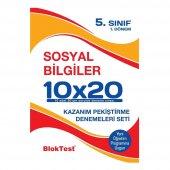 5.sınıf 1.dönem Sosyal Bilgiler 10x20 Kazanım Pekiştirme Denemeleri Seti Blok Test Yayınları