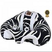 Bebeyatmaz Bebek Oturma Destek Minderi Zebra Beyaz