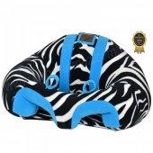 Bebeyatmaz Bebek Oturma Destek Minderi Zebra Mavi