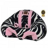 Bebeyatmaz Bebek Oturma Destek Minderi Zebra Pembe
