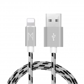 Mean Apple İphone Usb Lightning Hızlı Data Örgülü Şarj Kablosu (2'li Avantaj Paket) 1 Ve 2 Metre