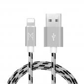 Mean Apple İphone Usb Lightning Hızlı Data Örgülü Şarj Kablosu (2'li Avantaj Paket) 1 Ve 3 Metre
