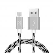 Mean Android Samsung Usb Micro Hızlı Data Örgülü Şarj Kablosu (2'li Avantaj Paket) 1 Ve 2 Metre