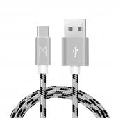 Mean Android Samsung Usb Type C Hızlı Data Örgülü Şarj Kablosu (2'li Avantaj Paket) 1 Ve 2 Metre