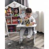 Modilayn Mia Beyaz Sallanan Bebek Mama Sandalyesi