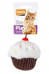 Karlie Peluş Kedi Oyuncağı Kek Beyaz Kahverengi...