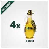 Zer Naturel Sızma Zeytinyağı 250ml X 4 Kulplu Cam