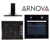 Arnova Ankastre Set 3lü Siyah