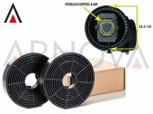 Karbon Filtre(13.5 Cm 2 Adet) Universal Gerçek Plastik Ve Karbon