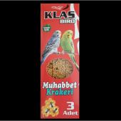 Klas Bırd Muhabbet Kuşu Krakeri Ballı 3lü