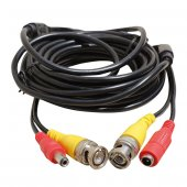 Bnc Bnc Kablo+power Kablo Dişi Erkek Jacklı 10 Metre