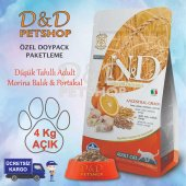 Nd Düşük Tahıllı M.balık Portakal Adult Kedi Maması 4 Kg Açık