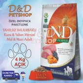 Nd Pumpkin Med.maxi Kuzu Y.mersini Adult Köpek Maması 4 Kg Açık