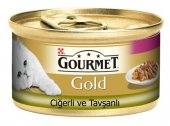 Gourmet Gold Ciğerli Tavşanlı Kedi Konservesi 85 Gr