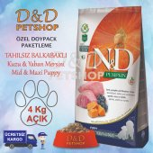 Nd Pumpkin Kuzu Y.mersini Med.maxi Puppy Köpek Maması 4kg Açık
