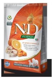 N&d Pumpkin Balkabaklı Balık Portakal Med.maxi Adult 2,5 Kg 09 20