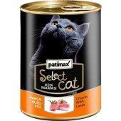 Patimax  Select Cat Parça Kuzu Etli Kedi Konservesi 400 Gr