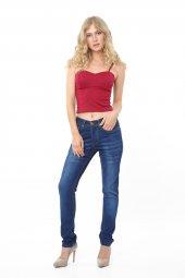 Vikings Jeans Bayan Boru Paça Kot Denim Pantolon 30 Boy 9027