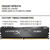 Kingston Hyperx 16gb 2400mhz Ddr4 Hx424c15fb3 16