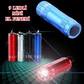 Süper Parlak 9 Ledli Metal Mini El Feneri