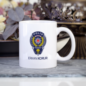 Kişiye Özel İsimli Polis Kupa Bardak