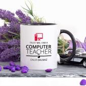 Kişiye Özel Lacivert Renkli Bilgisayar Öğretmeni Kupa Bardak