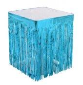 Masa Kenarı Eteği Fonsüs Metalize Yerli Mavi 1 Adet
