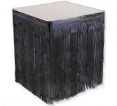 Masa Kenarı Eteği Fonsüs Metalize Yerli Siyah 1 Adet