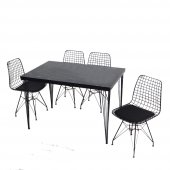 Masa Sandalye Takımı Tel Masa 4 Sandalye Seti Varnaconcept-2