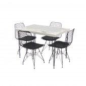 Masa Sandalye Takımı Tel Masa 4 Sandalye Seti Varnaconcept-3
