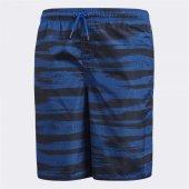 Adidas Kamuflaj Çocuk Mavi Mayo Şort (Cv5208)