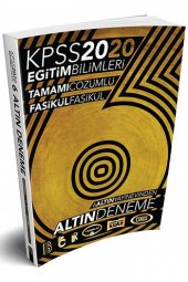 2020 KPSS Eğitim Bilimleri 6 ALTIN Tamamı Çözümlü Fasikül Deneme Benim Hocam Yayınları