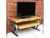 Endüstriyel Metal Tv Standı Ahşap Tv Sehpası Yumo Tv Ünitesi