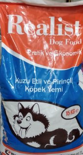 Realist Köpek Maması Kuzu Etli Pirinçli 15kg