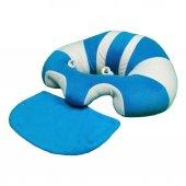 Devrilmez Bebek Minderi Mavi Beyaz C1007