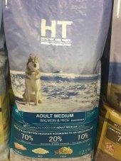 Ht Dog Adult Medium Somonlu Pirinçli Köpek Maması 12,50kg