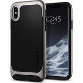 Spigen Apple İphone X Kılıf Neo Hybrid Gunmetal 057cs22165